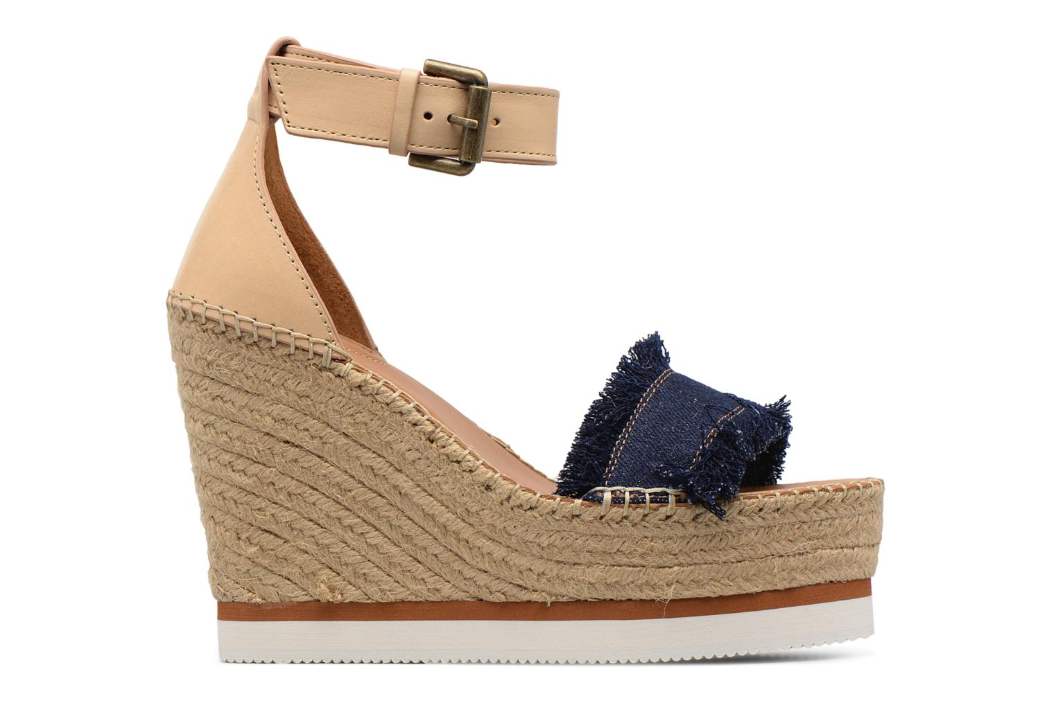 Sandals See by Chloé Glyn High Blue back view