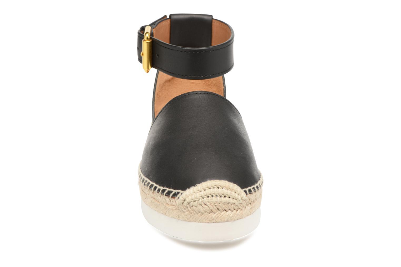 Glyn Flat Leather Black