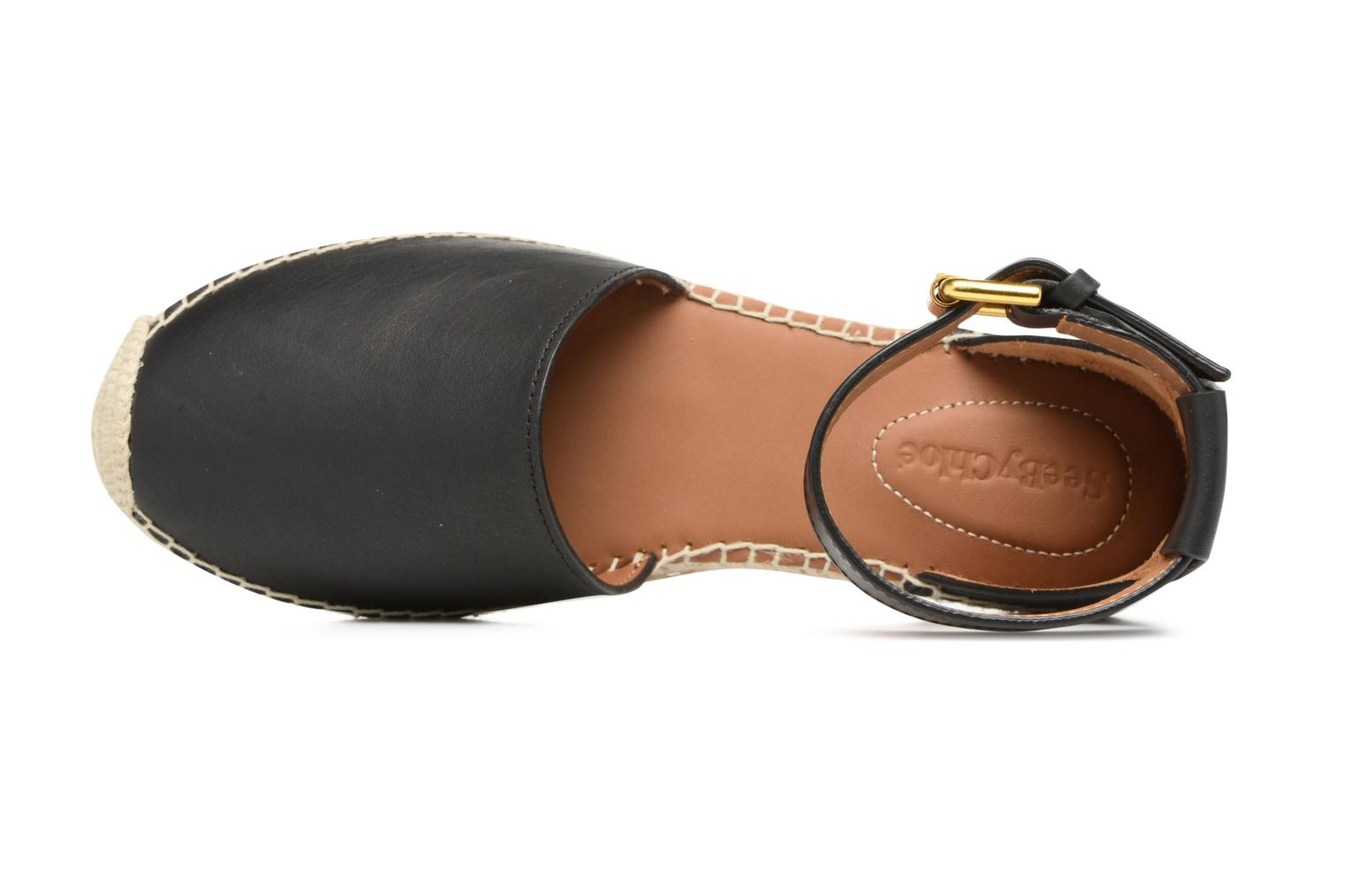 Espadrilles See by Chloé Glyn Flat Black view from the left