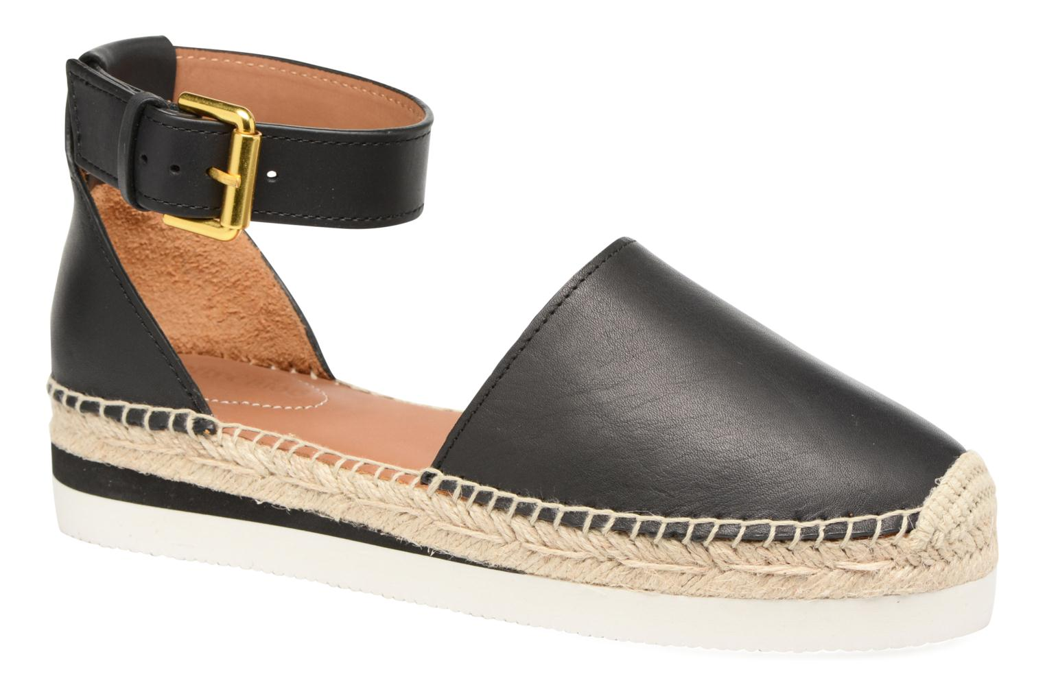 Espadrilles See by Chloé Glyn Flat Black detailed view/ Pair view