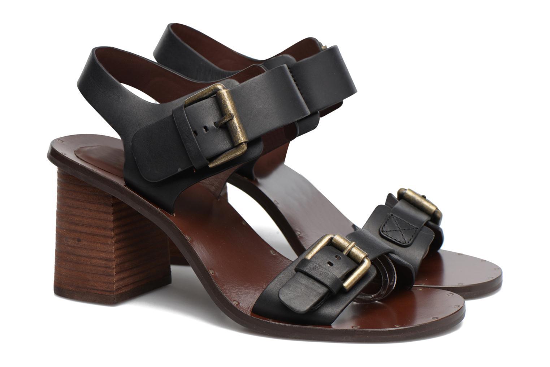 Sandales et nu-pieds See by Chloé Romy High Noir vue 3/4