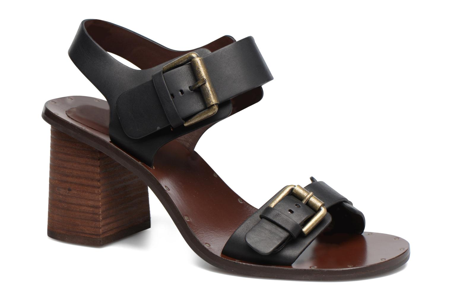 Sandals See by Chloé Romy High Black detailed view/ Pair view