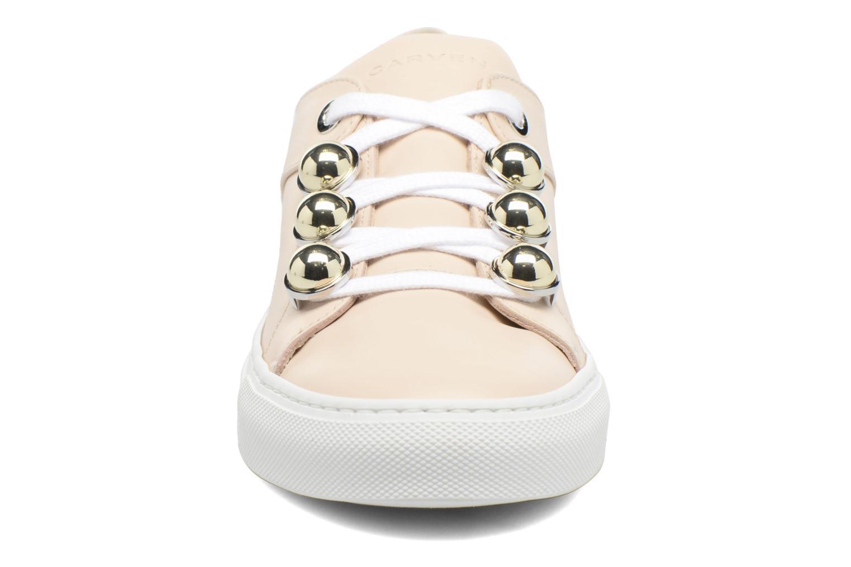 Baskets Carven Resonance Beige vue portées chaussures