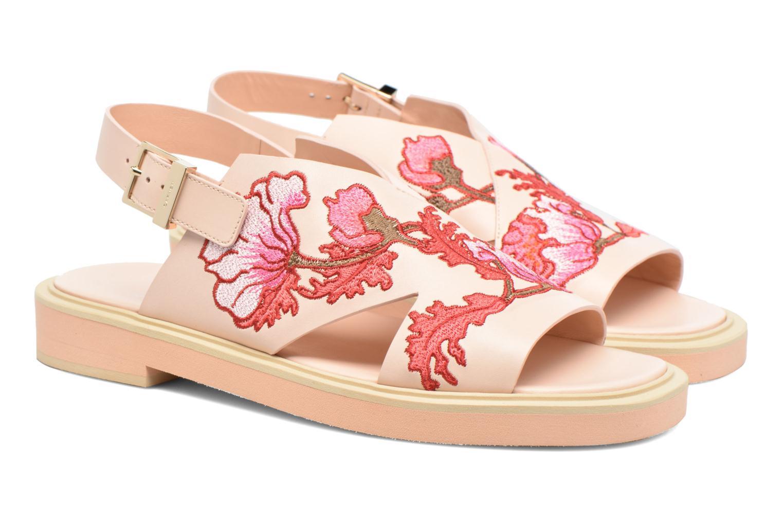 Sandaler Carven Butterfly Sandal Pink 3/4 billede