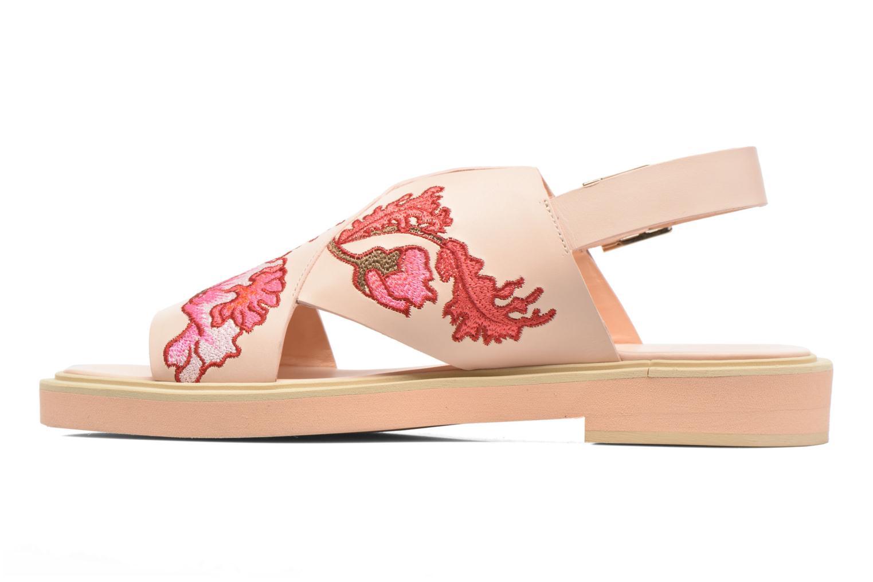 Sandaler Carven Butterfly Sandal Pink se forfra