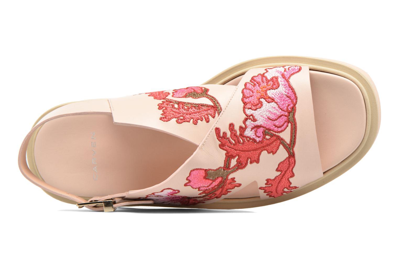 Sandales et nu-pieds Carven Butterfly Sandal Rose vue gauche