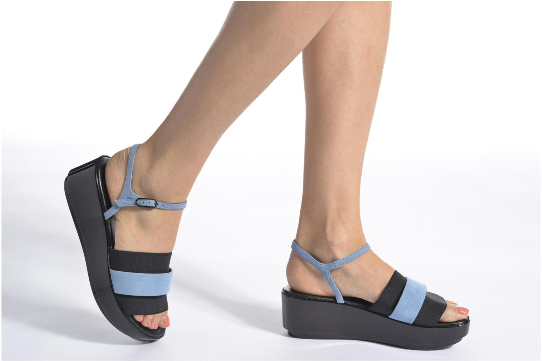 Sandales et nu-pieds Clergerie Poddy Bleu vue bas / vue portée sac