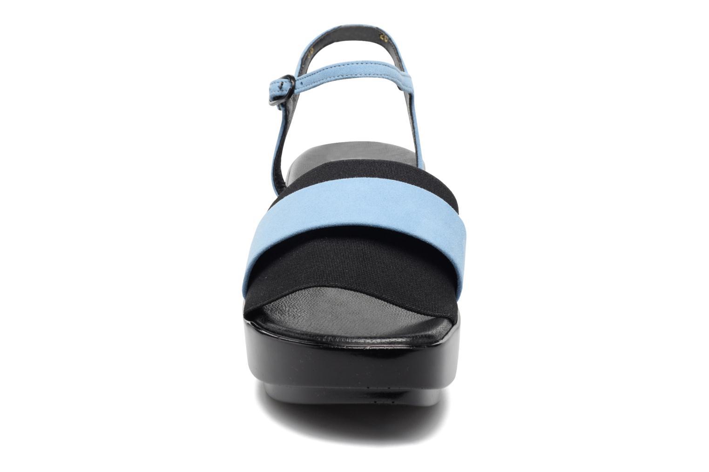 Sandales et nu-pieds Clergerie Poddy Bleu vue portées chaussures