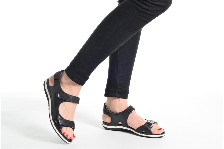Sandales et nu-pieds Geox D SAND.VEGA A D52R6A Noir vue bas / vue portée sac