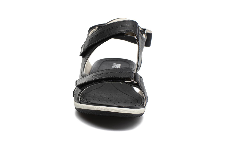 Sandales et nu-pieds Geox D SAND.VEGA A D52R6A Noir vue portées chaussures