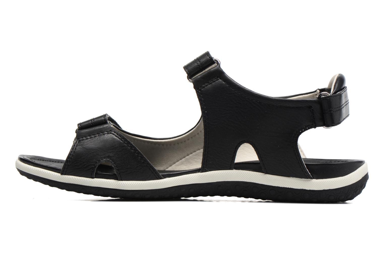 Sandales et nu-pieds Geox D SAND.VEGA A D52R6A Noir vue face