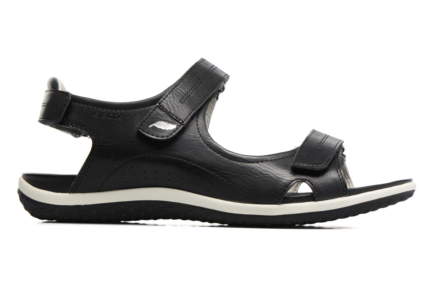 Sandals Geox D SAND.VEGA A D52R6A Black back view
