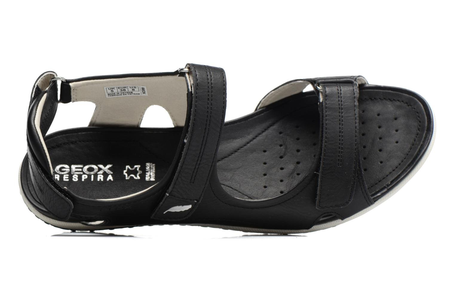 Sandals Geox D SAND.VEGA A D52R6A Black view from the left