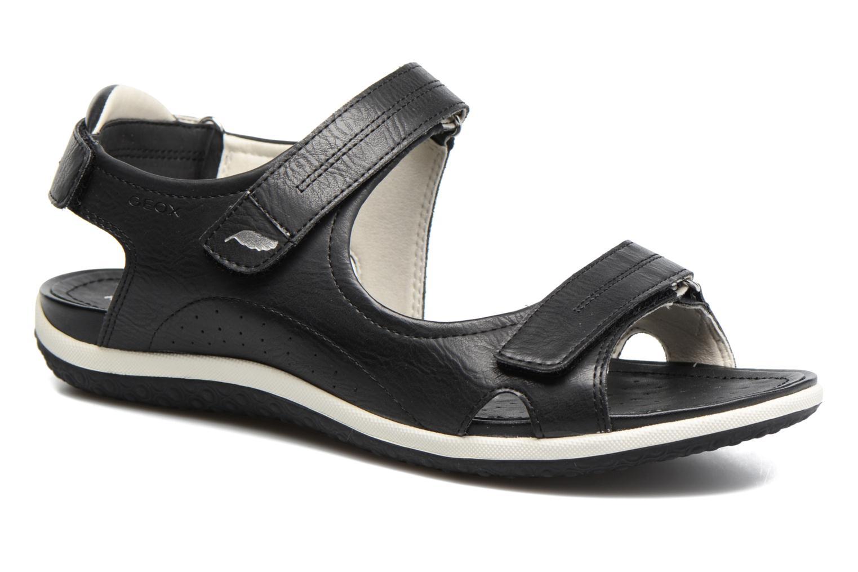 Sandaler Geox D SAND.VEGA A D52R6A Sort detaljeret billede af skoene