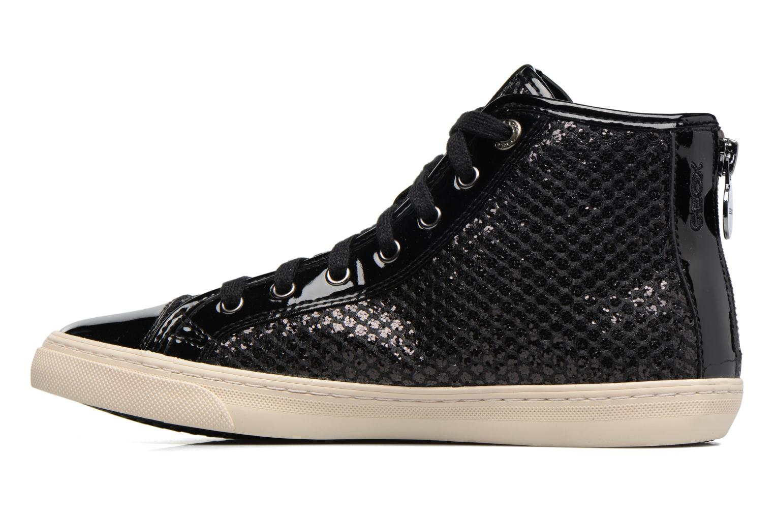 Trainers Geox D NEW CLUB E D5458E Black front view