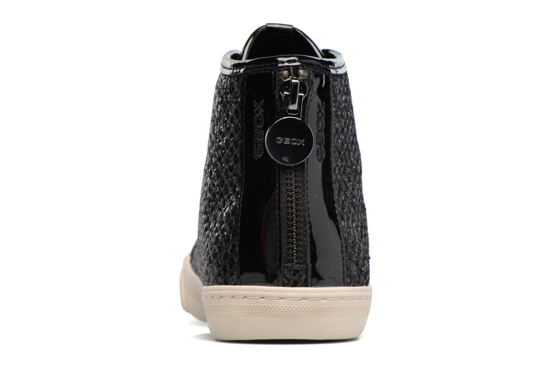 Sneaker Geox D NEW CLUB E D5458E schwarz ansicht von rechts