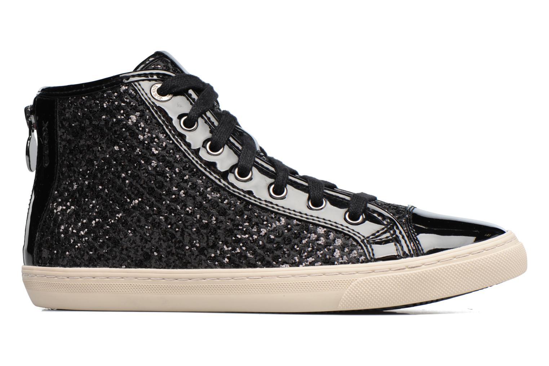 Sneaker Geox D NEW CLUB E D5458E schwarz ansicht von hinten