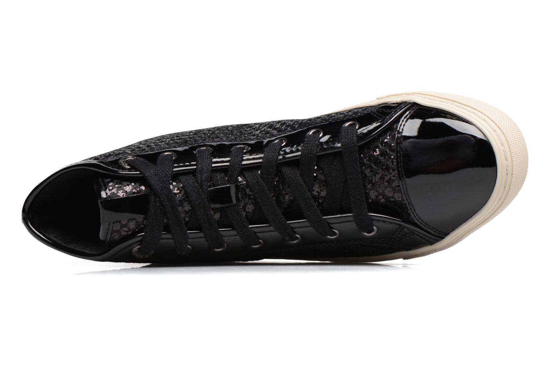 Sneaker Geox D NEW CLUB E D5458E schwarz ansicht von links