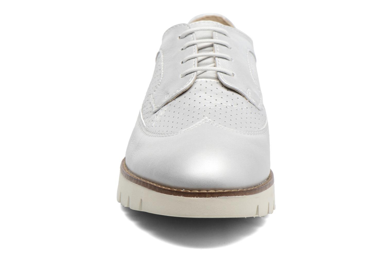 Chaussures à lacets Geox D BLENDA A D720BA Argent vue portées chaussures