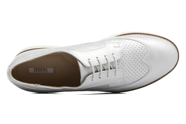 Chaussures à lacets Geox D BLENDA A D720BA Argent vue gauche