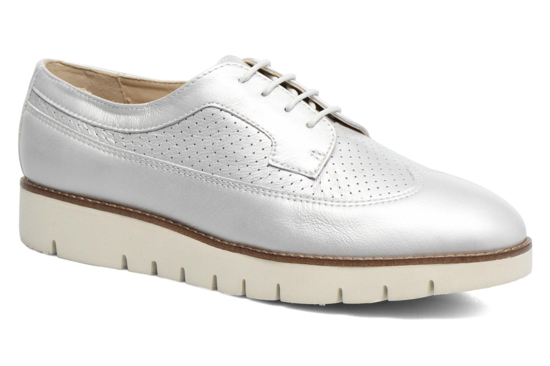 Chaussures à lacets Geox D BLENDA A D720BA Argent vue détail/paire