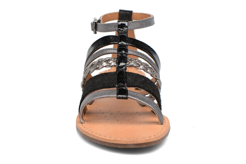 Sandali e scarpe aperte Geox D SOZY E D722CE Nero modello indossato