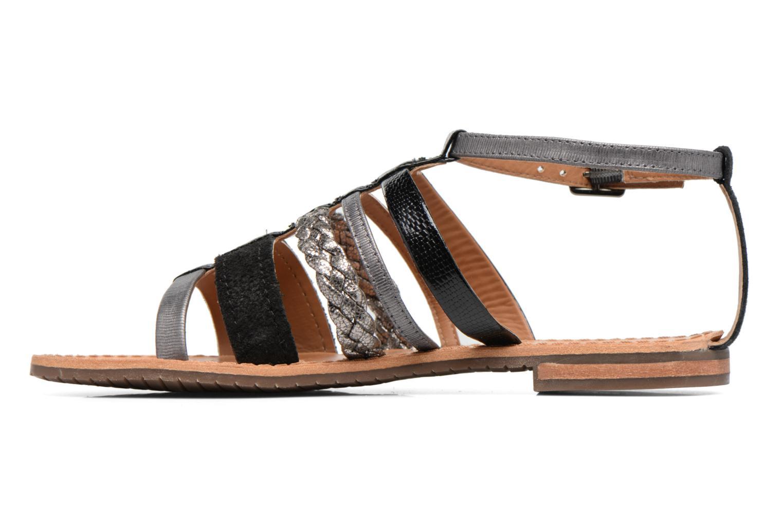 Sandales et nu-pieds Geox D SOZY E D722CE Noir vue face