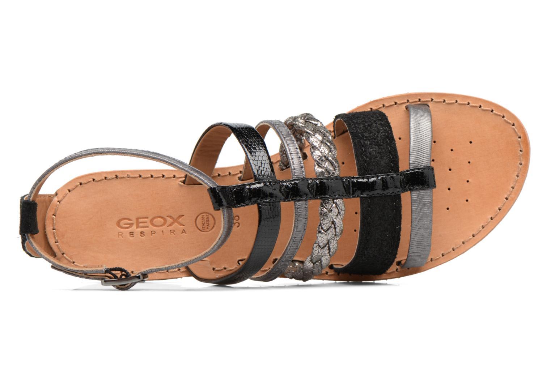 Sandalen Geox D SOZY E D722CE Zwart links