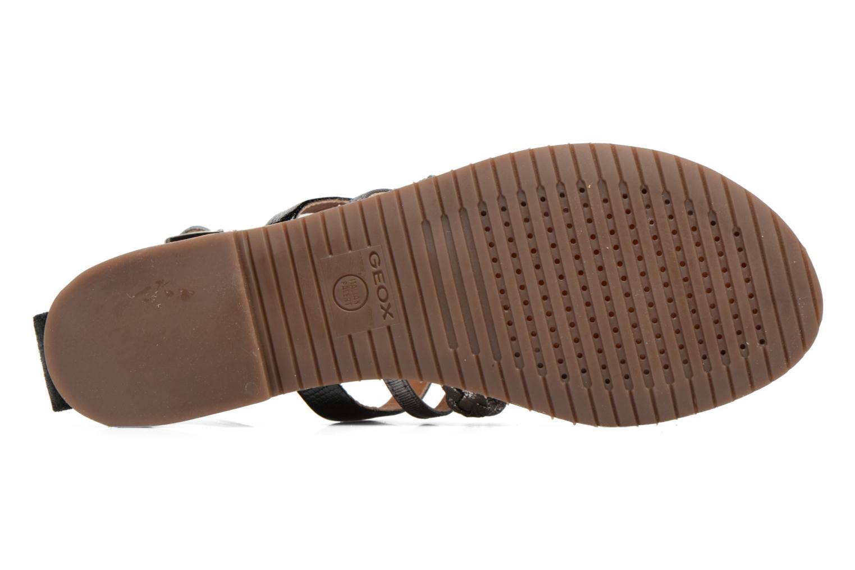 Sandales et nu-pieds Geox D SOZY E D722CE Noir vue haut