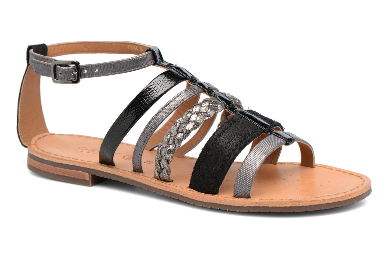 Sandals Geox D SOZY E D722CE Black detailed view/ Pair view