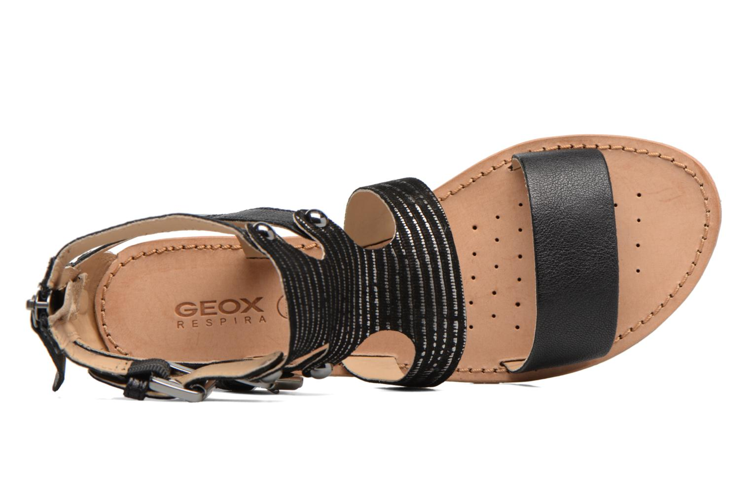Sandals Geox D SOZY G D722CG Black view from the left