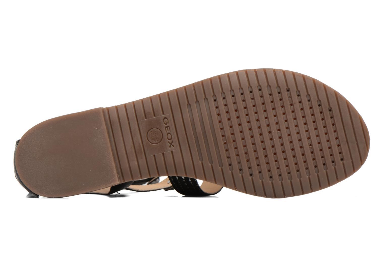 Sandales et nu-pieds Geox D SOZY G D722CG Noir vue haut