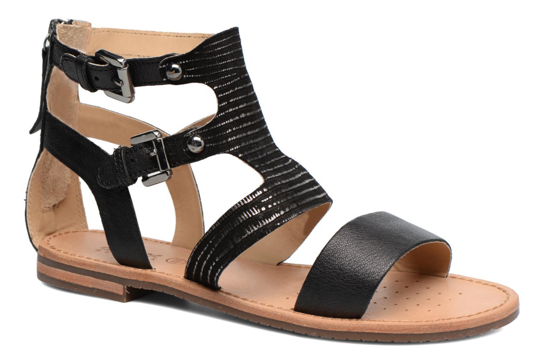 Sandals Geox D SOZY G D722CG Black detailed view/ Pair view