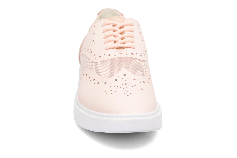Chaussures à lacets Geox D THYMAR B D724BB Rose vue portées chaussures