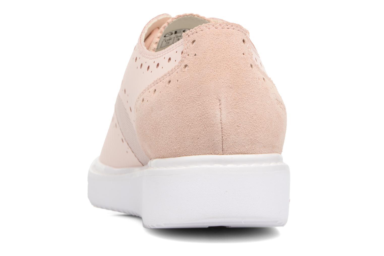 Chaussures à lacets Geox D THYMAR B D724BB Rose vue droite