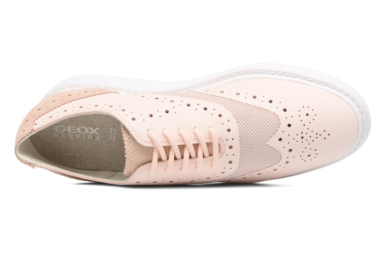 Chaussures à lacets Geox D THYMAR B D724BB Rose vue gauche