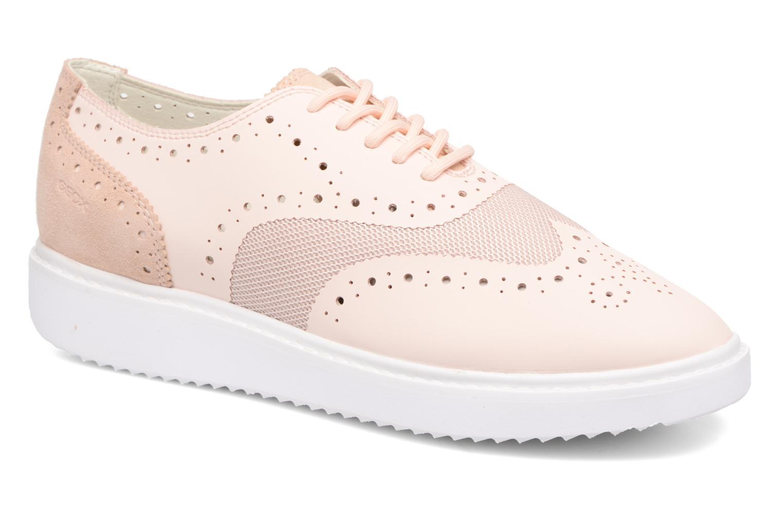 Chaussures à lacets Geox D THYMAR B D724BB Rose vue détail/paire