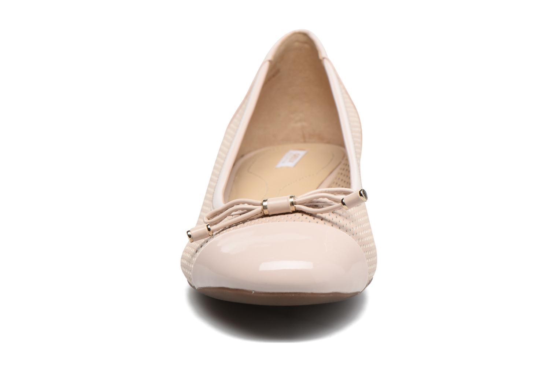 Ballerines Geox D WISTREY G D724GG Rose vue portées chaussures