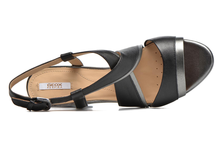 Sandales et nu-pieds Geox D MAUVELLE D D724LD Noir vue gauche