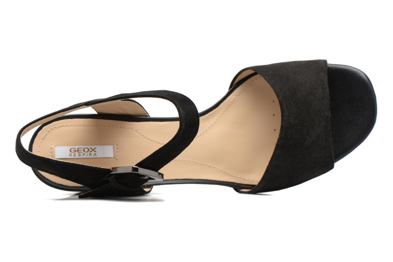 Sandales et nu-pieds Geox D MARILYSE B D724UB Noir vue gauche