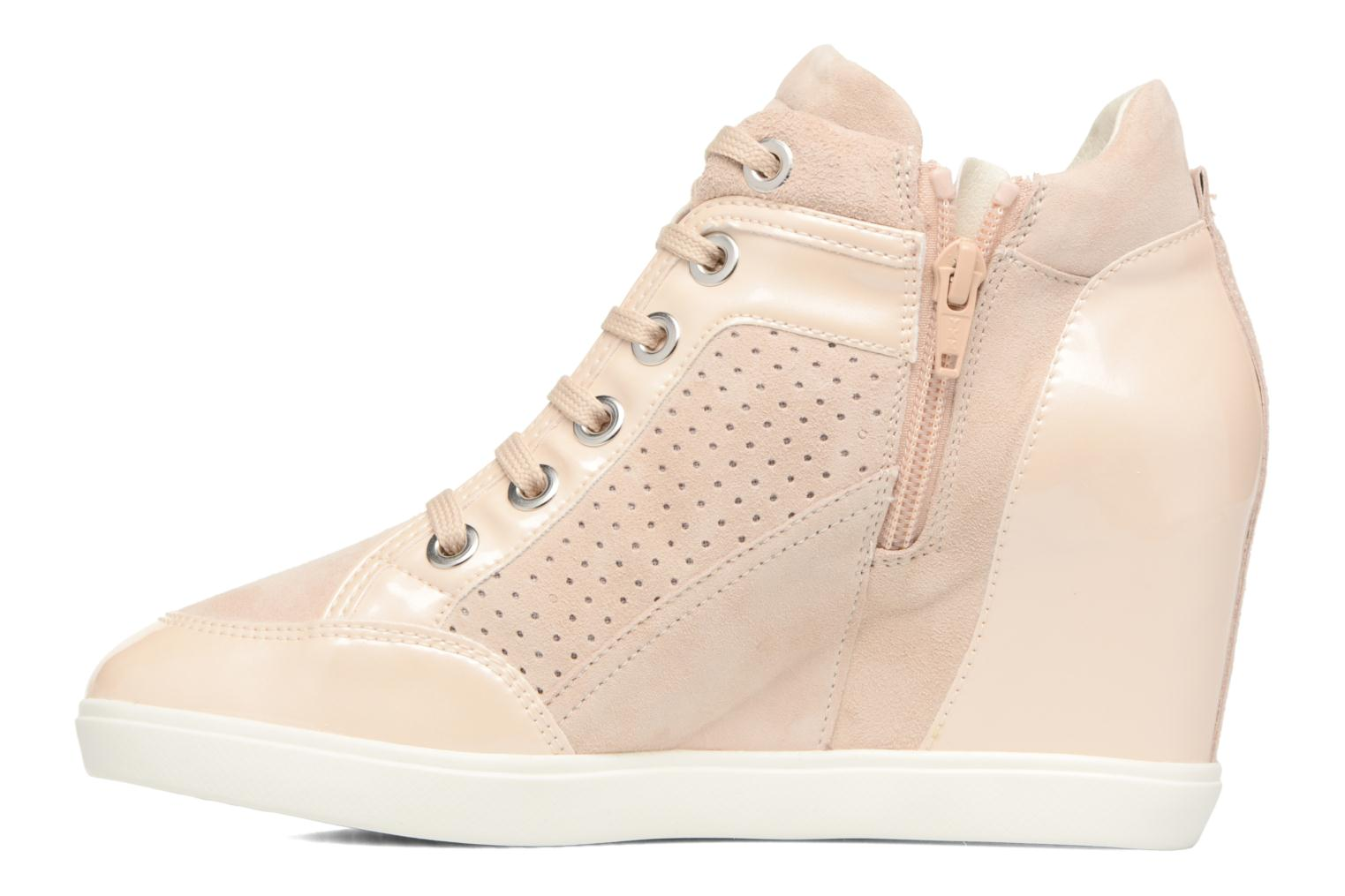 Trainers Geox D ELENI C D7267C Bronze and Gold front view