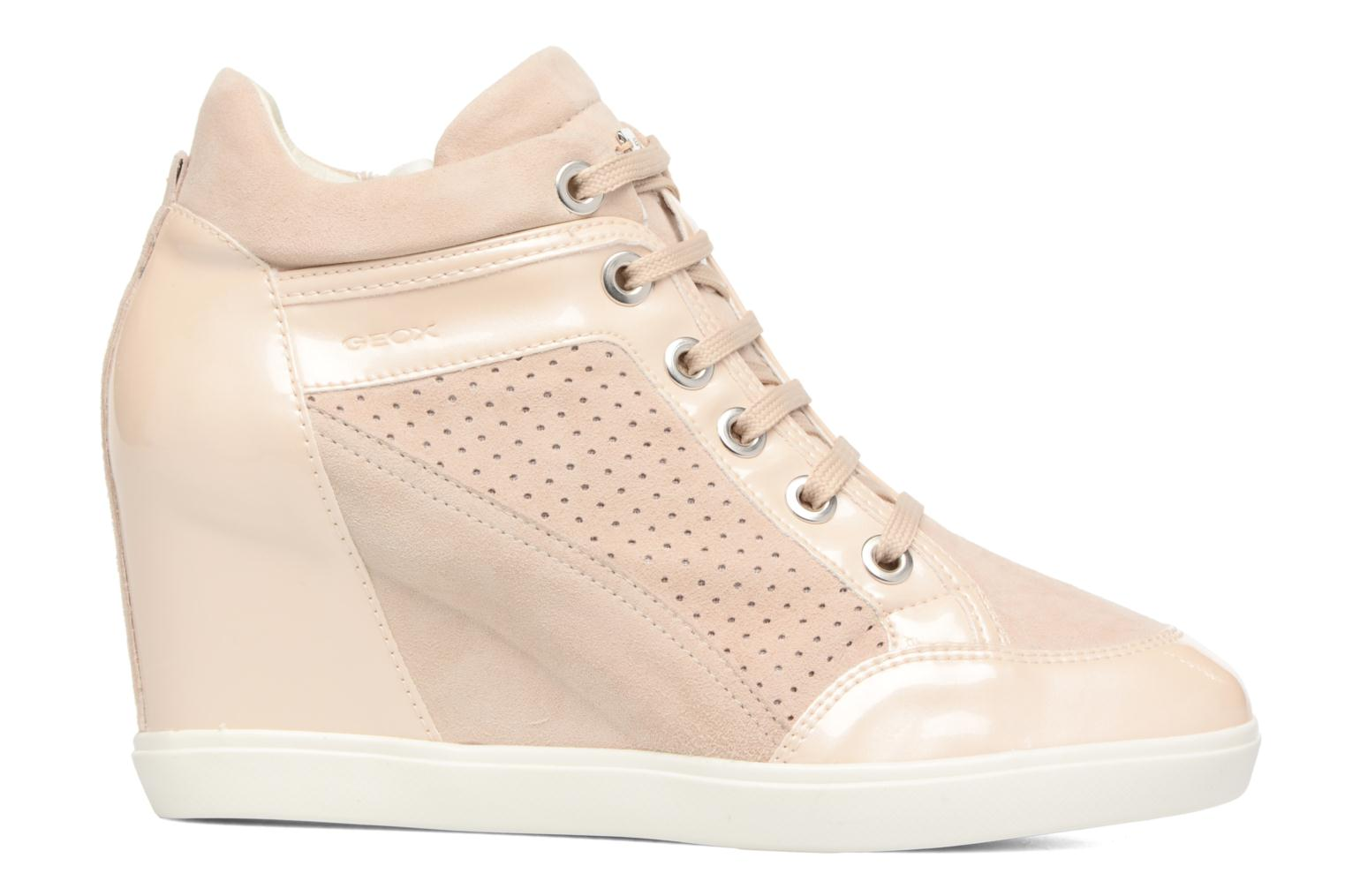 Trainers Geox D ELENI C D7267C Bronze and Gold back view