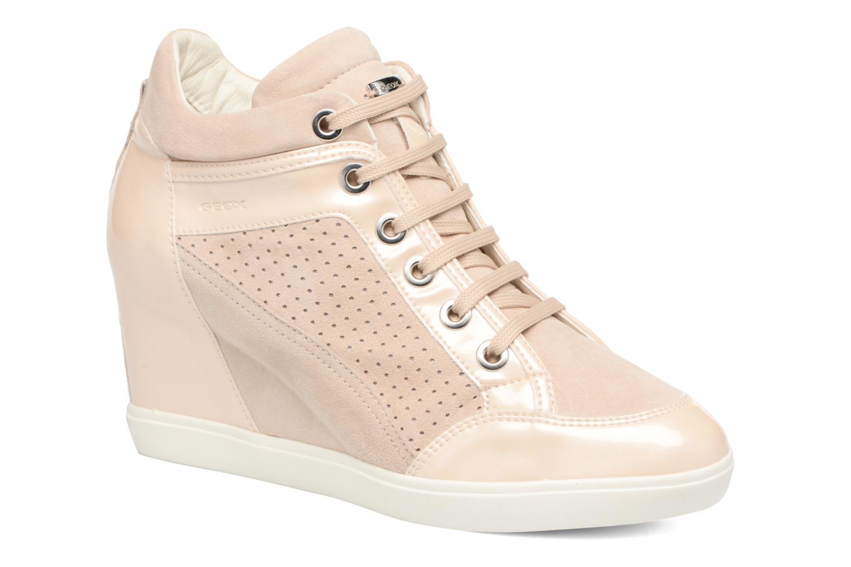 Sneakers Geox D ELENI C D7267C Guld og bronze detaljeret billede af skoene