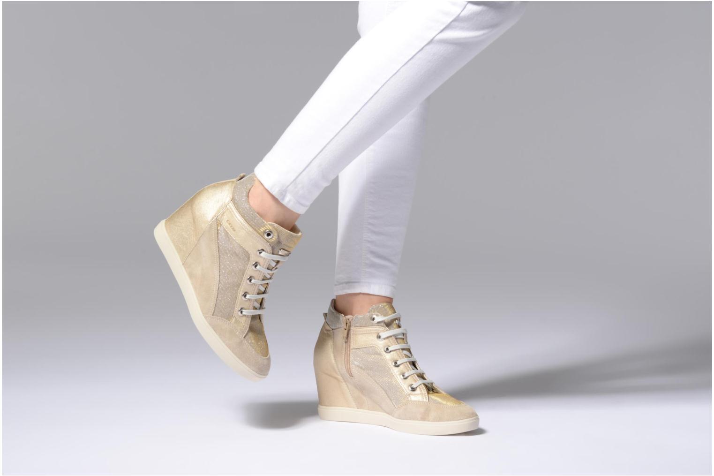 Sneakers Geox D ELENI C D7267C Goud en brons onder