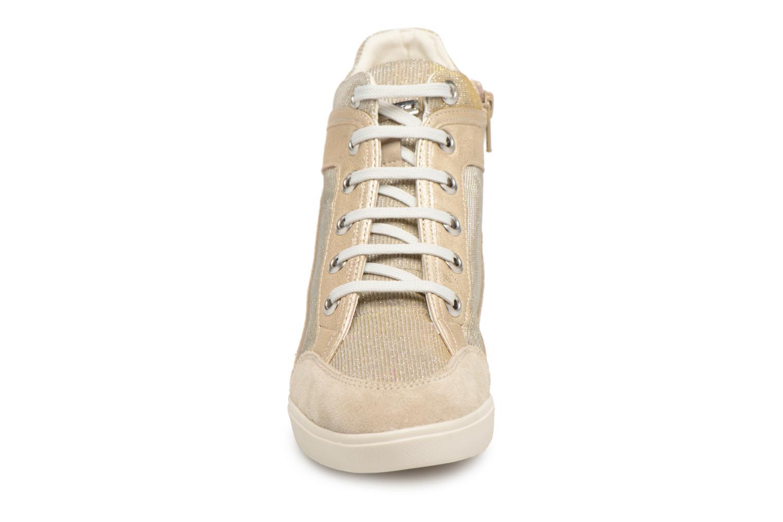 Baskets Geox D ELENI C D7267C Or et bronze vue portées chaussures