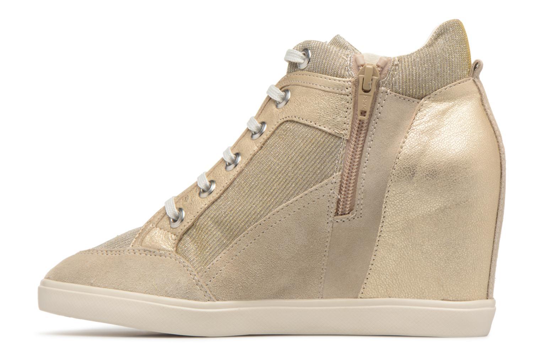 Sneaker Geox D ELENI C D7267C gold/bronze ansicht von vorne