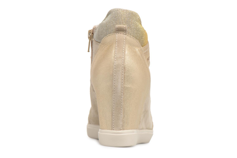 Baskets Geox D ELENI C D7267C Or et bronze vue droite