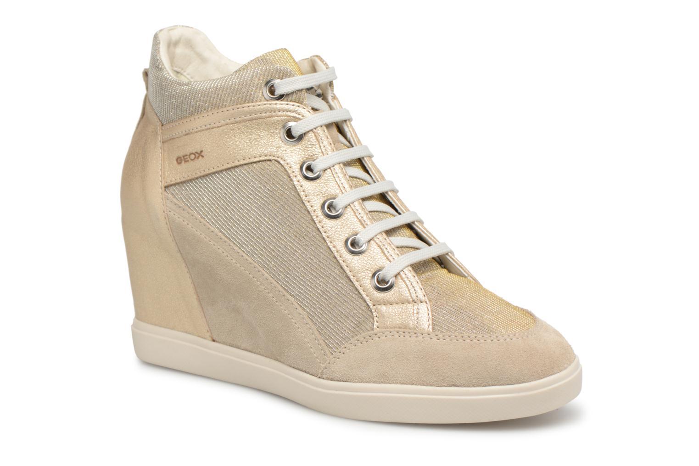 Sneakers Geox D ELENI C D7267C Goud en brons detail
