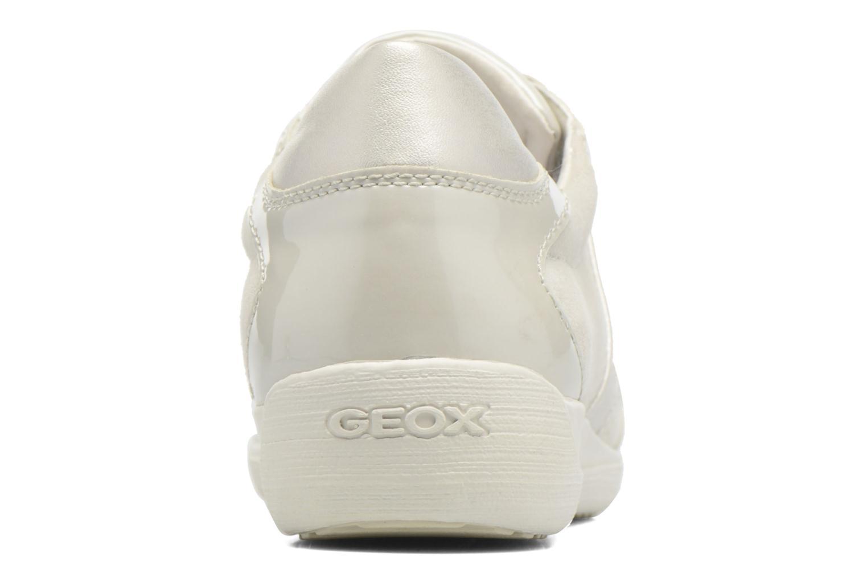 Baskets Geox D MYRIA A D7268A Blanc vue droite
