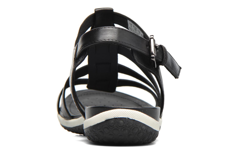 Sandales et nu-pieds Geox D SAND.VEGA A D72R6A Noir vue droite
